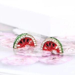 Stunning Watermelon CZ Stud Earrings